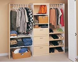 Expandable Closet Storage - White Maple